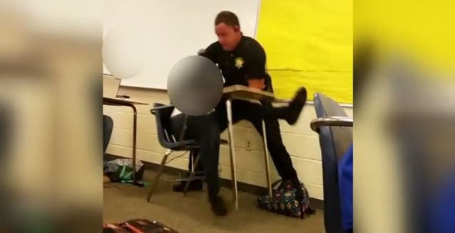Student-shot cell phone video shows the deputy forcibly removing the student