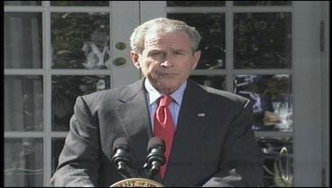 President Bush said he would quickly sign the bailout plan into law