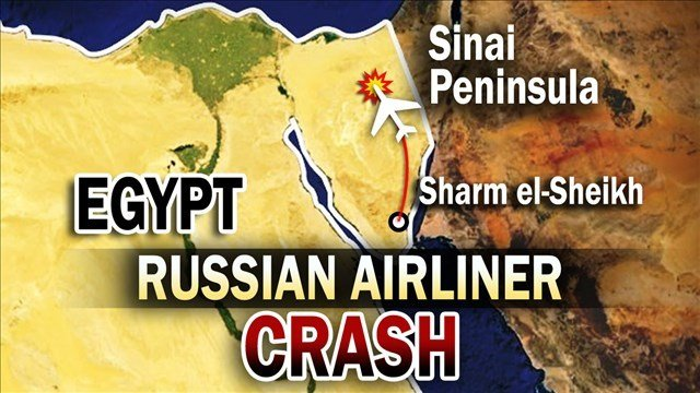 Russia's top aviation official says the Russian passenger plane that crashed in Egypt had broken up at high altitude.