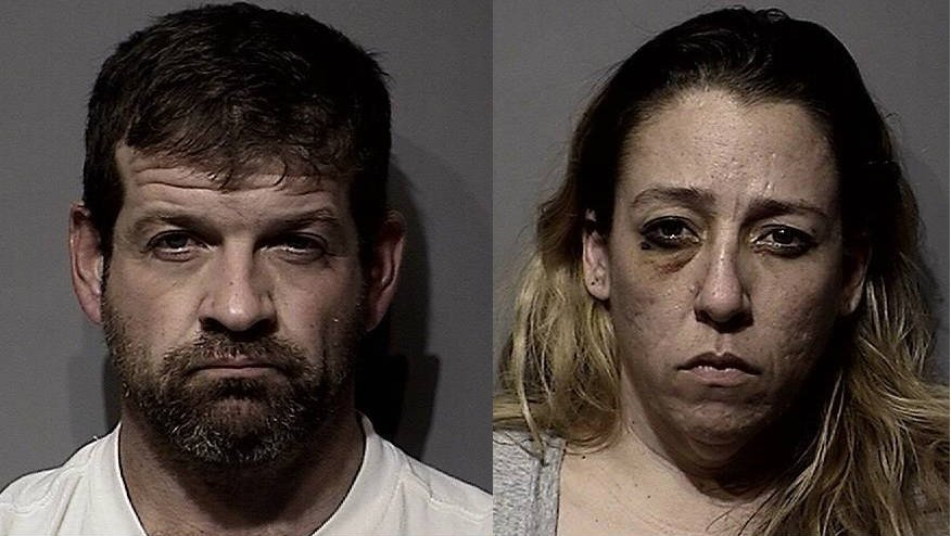 John D. Clark and Andrea E. Evitts were arrested on numerous charges stemming from a burglary in Post Falls Tuesday night