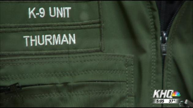 It was early Friday morning, during a traffic stop, Thurman sensed he and Laslo were in danger.