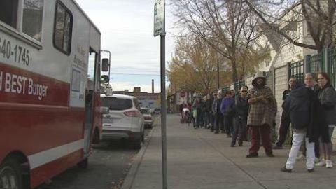 Ron Bjorklund's food truck had plenty of costumers Saturday.