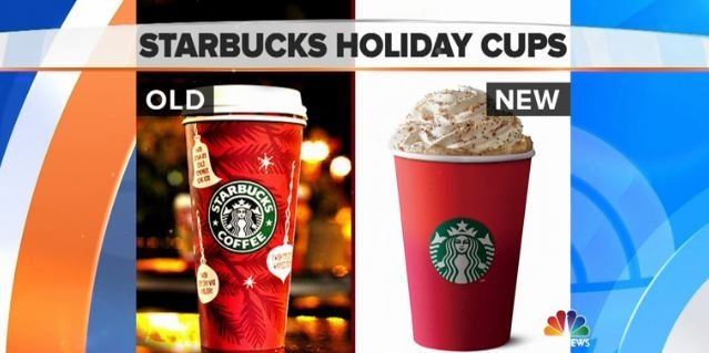 "Some people are upset at the removal of ""symbols of the season"" on the red cups"