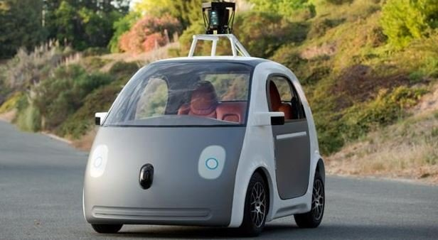 Mountain View police said in a statement that an officer pulled over a Google self-driving car that was being tested on local roads Thursday. (PHOTO: Google)