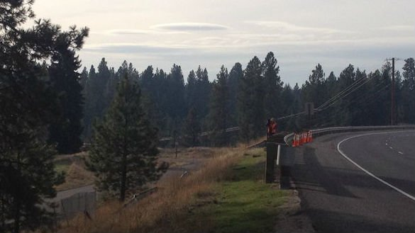 The site of a fatal crash near Highway 2 and Deer Road.