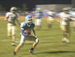 CV quarterback Blake Bledsoe runs into the end zone against Mead