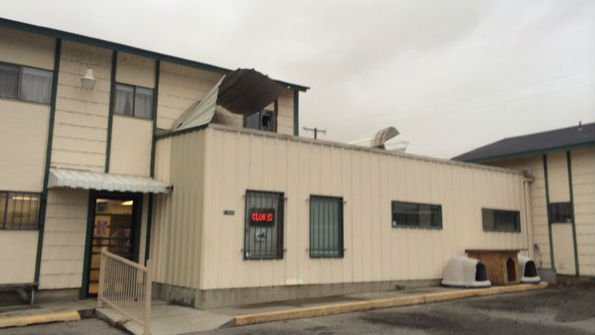 SpokAnimal had their roof blown off and windows damaged during Tuesday's Windstorm