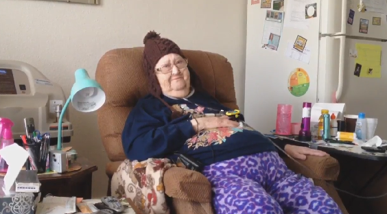 Thelma Blakely has to be on oxygen all the time. When the power went out, her machine stopped working.