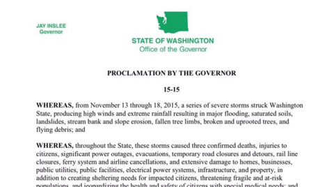 Washington Gov. Jay Inslee has proclaimed a state of emergency for all counties in Washington.