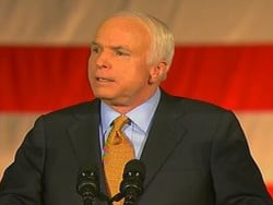 John McCain conceded the election to Barack Obama during a speech in Arizona