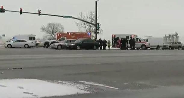 """Ambulances and police vehicles were lined up near an intersection near a Planned Parenthood clinic and Colorado Springs police told people via Twitter to stay away from the """"active shooter scene"""" because it was not secure."""