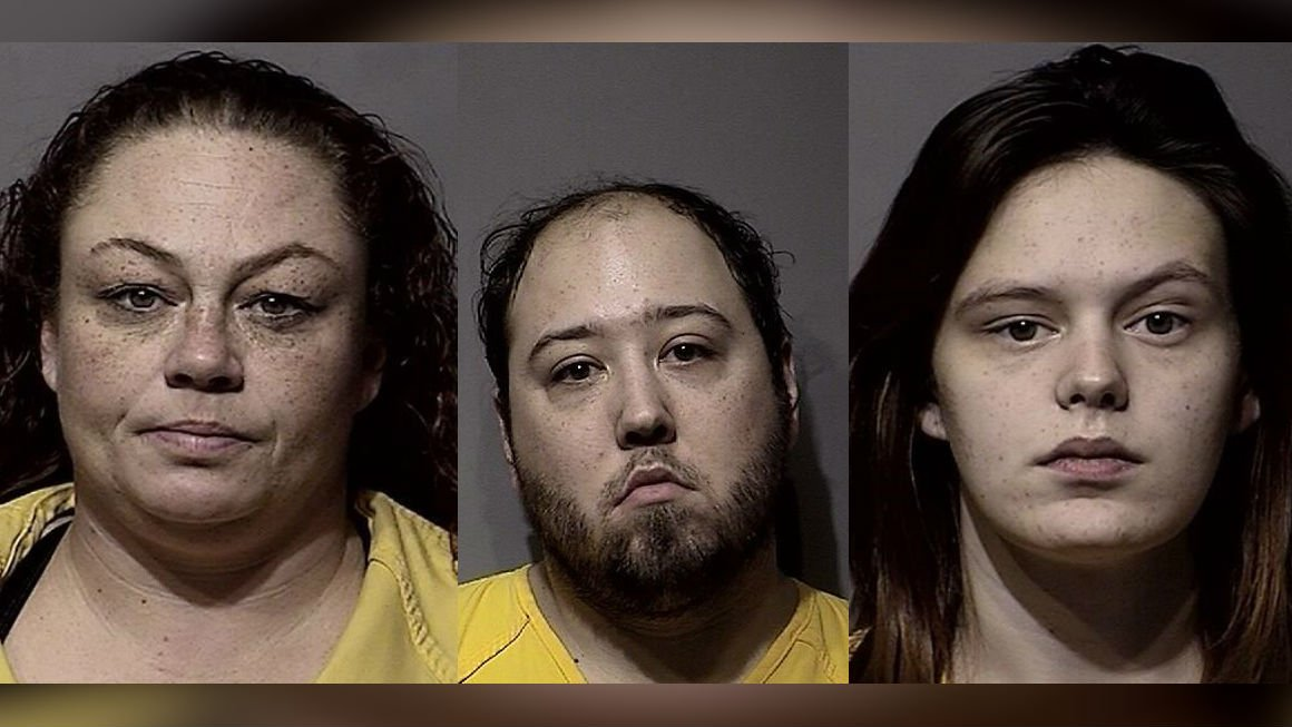 The three suspects were later idenfied as 37-year-old Angela Frisbee, 27-year-old Travis Anderson, and 19-year-old Lilly Johnson.