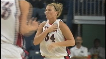 Tiffanie Shives scored a career-high 25 points in the Zags win over Utah Valley (Photo: KHQ)