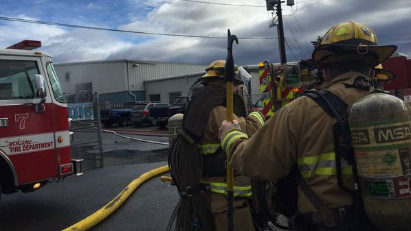 Spokane Firefighters on scene Tuesday afternoon near N. Haven and E. Boone