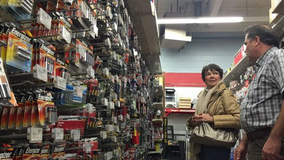 At the General Store in Spokane, Pat Nugent is looking for a flashlight in preparation for Wednesday's expected windstorm.