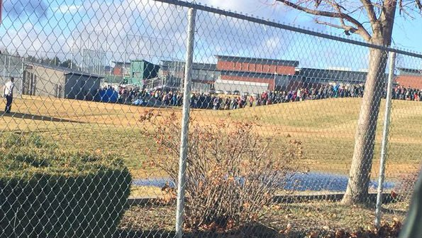 A suspect fleeing a stolen car and a bomb threat put Central Valley High into lockdown Wednesday morning