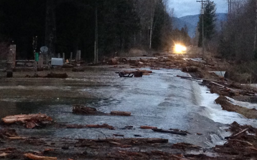 North Boyer Road near Schweitzer Creek was one of the most heavily affected roads.