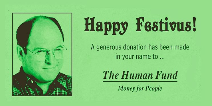 Watch out for phony charities this holiday season (PHOTO: Facebook/Seinfeld)