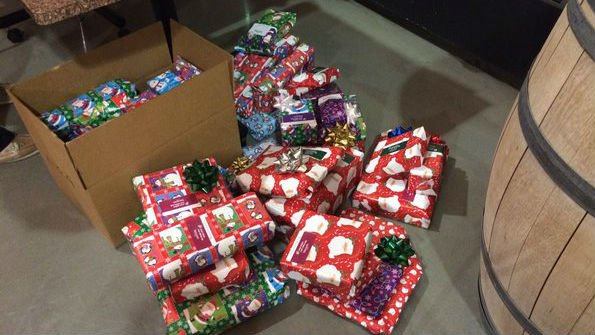 Some of the gifts wrapped by Etailz.