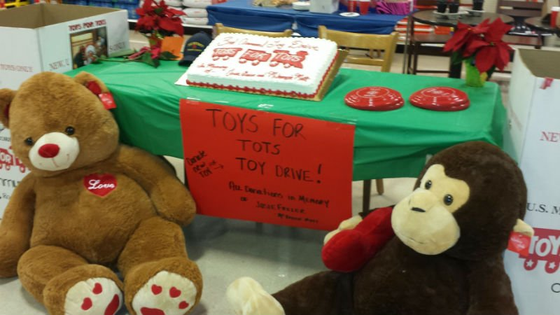 The toy drive goes until 4 pm Saturday.