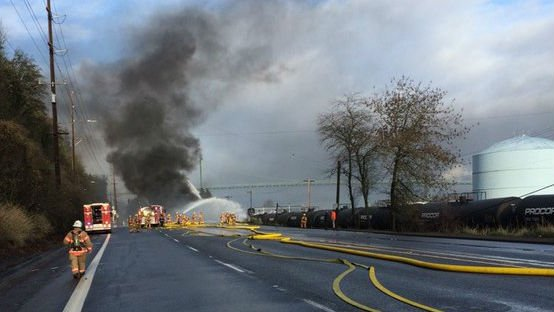 Portland police have identified the driver killed when a truck hauling fuel collided with parked railroad tankers, a collision that ignited a massive fire Sunday.