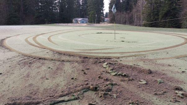 Damage to the Avondale Golf Club.