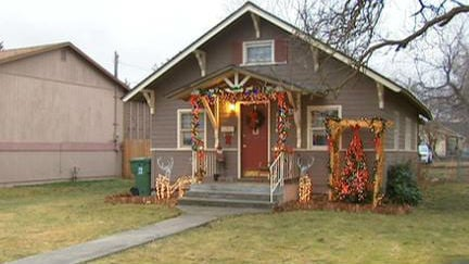 A Star Shower decoration was stolen from this home's yard.