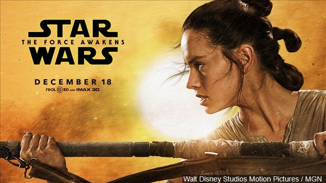 """The Walt Disney Co. is forecasting that """"The Force Awakens"""" will make more than $100 million in North America on Friday and is headed for a weekend total beyond $200 million."""