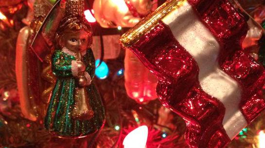 The scene inside Old World Christmas