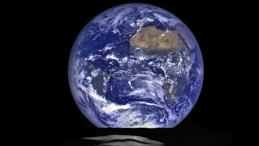 NASA released this new Earthrise photo Friday. Photo: NASA