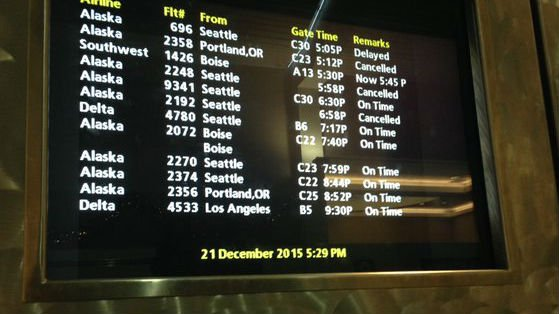 Snow caused a few cancellations Monday