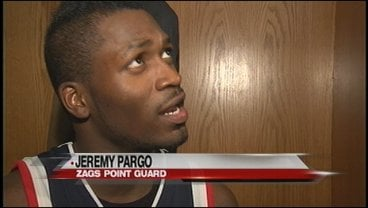 Gonzaga's Jeremy Pargo speaks with reporters after Wednesday's win over Washington State