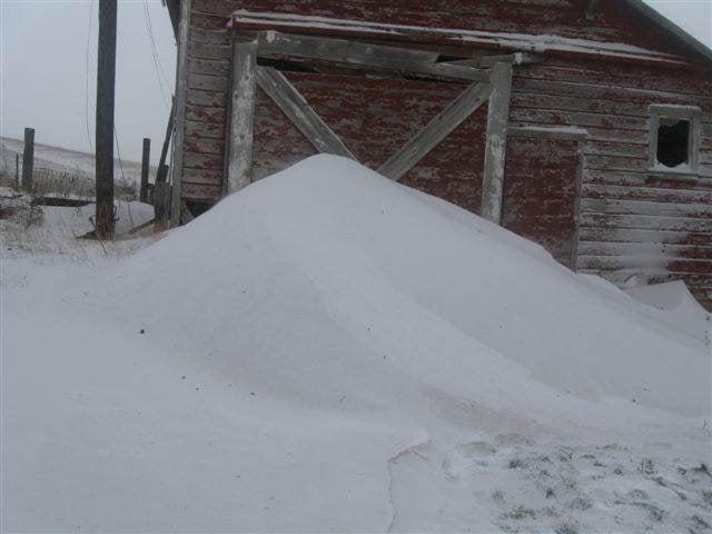 Drifting snow in St. John