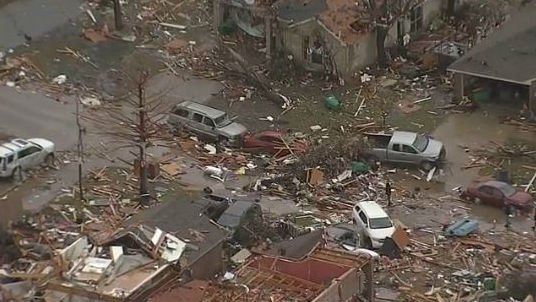 Forecasters say two tornadoes that hit the Dallas area had winds up to more than 200 mph. Photo: NBC