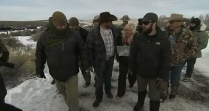 Ammon Bundy told reporters on Monday that two local ranchers who face long prison sentences for setting fire to land have been treated unfairly.