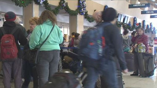 The scene at Spokane Airport Tuesday morning