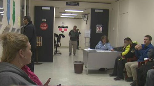 A line stretched down the hall of the Spokane County Public Safety Building Tuesday, filled with people applying for their concealed carry permit.