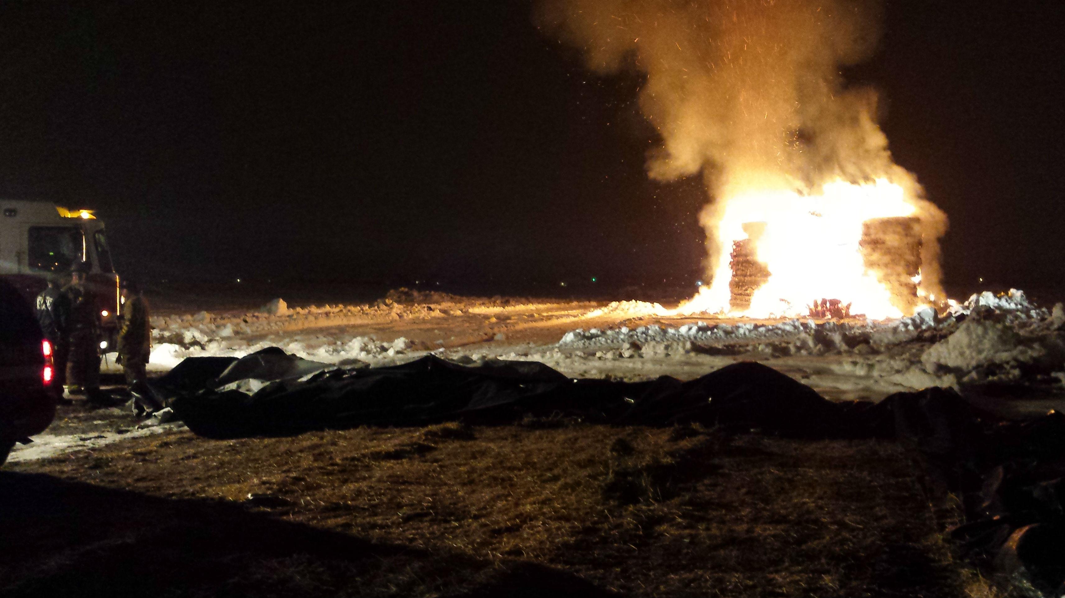The scene of the fire. Photo: CDAFD