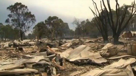 Some of the devastation caused by Australian bush fires. Photo NBC