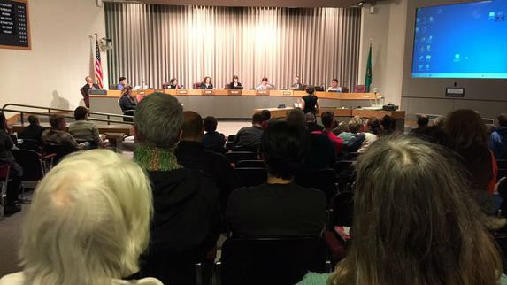 The scene at City Council Monday.