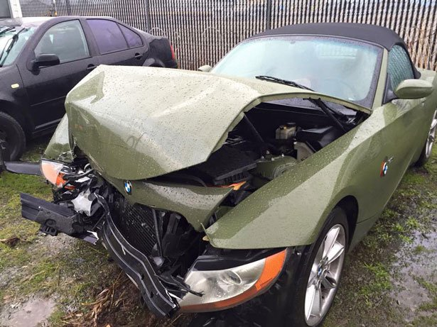 Two teens are facing felony charges for stealing and then totaling their assistant principal's car. (Photo: KIRO-TV)