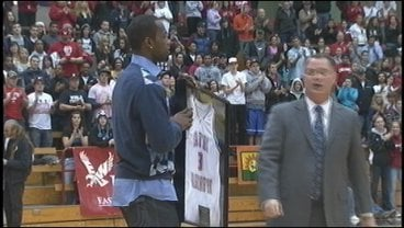 EWU retired Rodney Stuckey's jersey at a ceremony in his honor during Sunday's game against Weber State