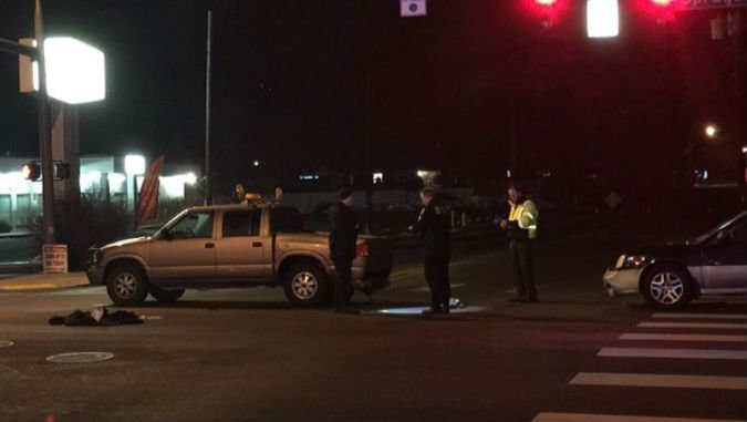 Woman killed after being pinned under truck in Spokane ...