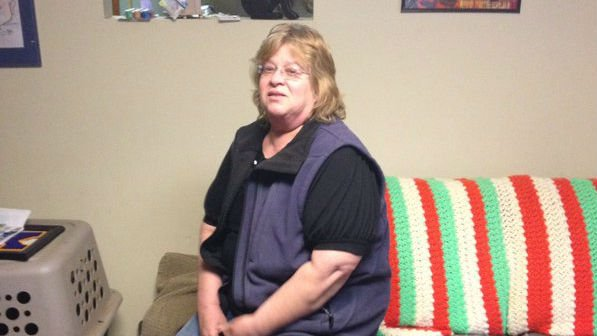 Carla Bassemeir was horrified when she arrived home Friday morning and found one of her family dogs had been beaten and shot dead left at the foot of her driveway.