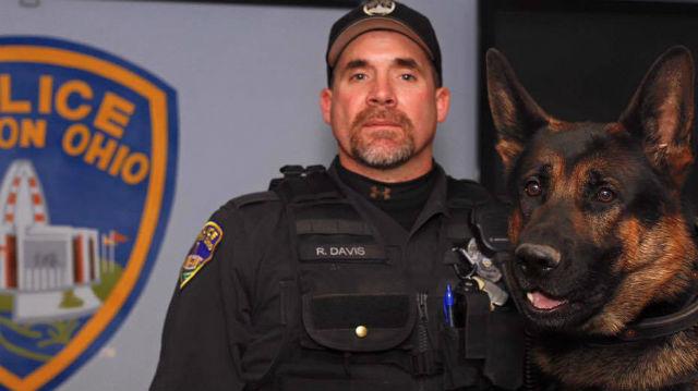 Officer Davis and K9 Jethro Photo: Facebook.com/CantonPD