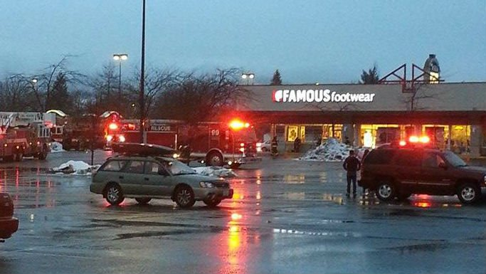 The scene at Famous Footwear