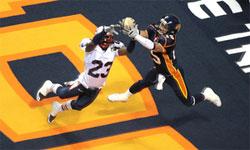 Raul Vijil hauls in one of his 35 touchdown receptions ((Photo: Spokane Shock)