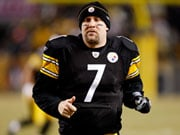 "Steelers' Ben Roethlisberger used to wear an armband with the letters ""PFJ"", which stood for ""playing for Jesus""."