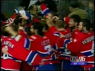 The Spokane Chiefs celebrate after beating Lethbridge in last year's WHL Championship (Photo: KHQ)