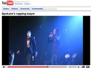 Mayor Verner's rap performance was posted on YouTube